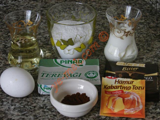 Kahveli Çikolatalı Kurabiye Malzemeleri